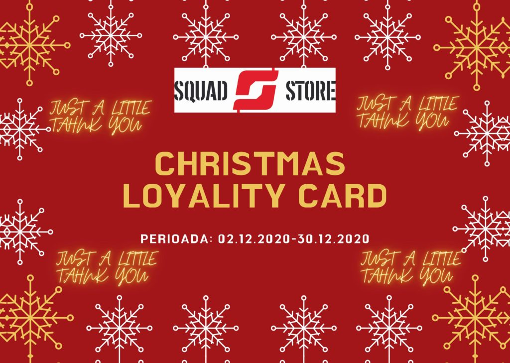 chirstmas loyality cards squad store shooting range