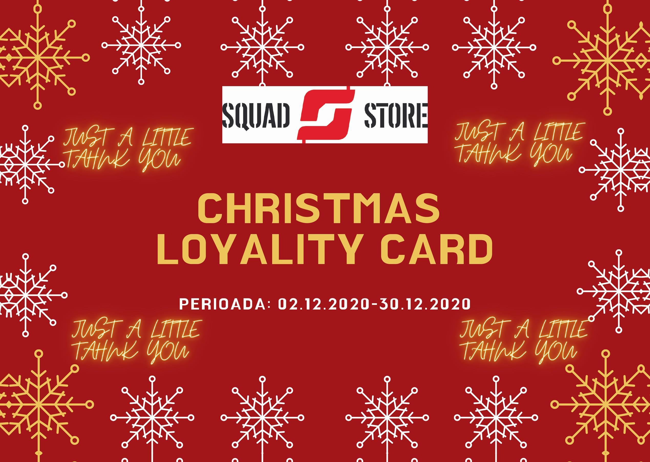 chirstmas loyality cards squad store shooting range