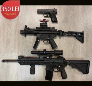 Pistol+HK SP5K+HK MR223 calibrul 9x19/9x19/223 REM + 15/15/15 cartuse