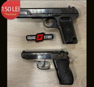 Pistol TT+Carpati calibrul 7,62x25/7,65x17 + 10/15 cartuse