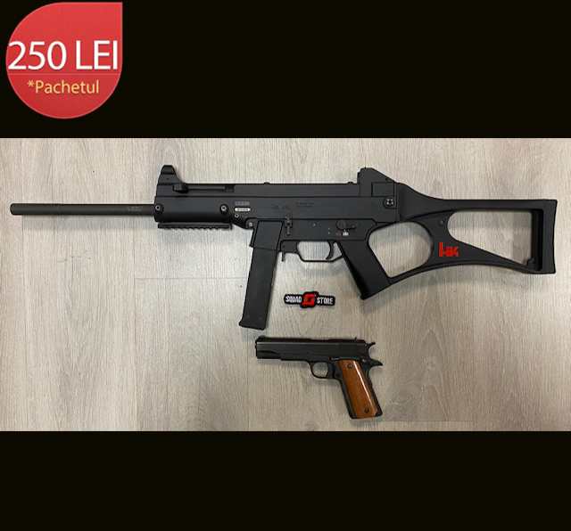 Pistol +carabina HK USC calibrul .45APC/.45ACP + 15 /15 cartuse
